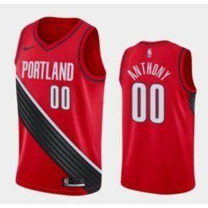 Portland Trail Blazers Carmelo Anthony Red Jersey
